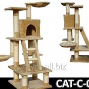 Когтеточка домик игровой комплекс для кота дряпка C-05 фото
