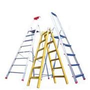 Диэлектрические лестницы, Лестницы двухсекционные, Лестницы приставные и раздвижные, Лестницы трехсекционные, Лестницы-стремянки, Специальные лестницы, Шарнирные лестницы фото