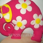 Розовый слон - подушка фото