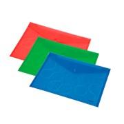 Папка конверт Panta Plast OMEGA A4 PP, прозрачный ассорти фото