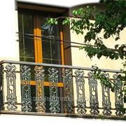 Балконное ограждение кованное фото