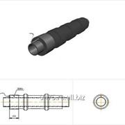 Труба стальная в полиэтиленовой трубе-оболочке, усиленной бандажами, с металлической заглушкой изоляции и торцевым кабелем вывода d=1220 мм, L´=210 мм фото