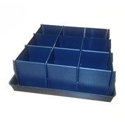 Ящик для рассады 9 секций (3x3) фото