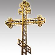 Кресты из нержавеющей стали или меди сплошные, ажурные, продуваемые фото