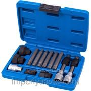 Набор специальных головок и насадок для шкива генератора, кейс, 13 предметов МАСТАК 106-10013C фото