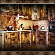 Кухни из массива под старину на заказ. фото