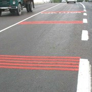 Разметка типа «Шумовые полосы» (цвет красный) фото
