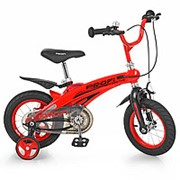 Велосипед детский PROF1 12д. LMG12123 Projective,магниевая рама,розовый, доп.колеса фото