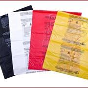 Пакеты для сбора мед.отходов 500х800 класс Б желтый с печатью и стяжкой фото