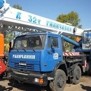 Аренда автокрана 32 тонны, стрела 22 метра Камаз фото