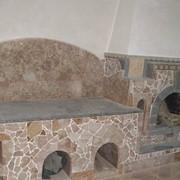 Облицовка печей, каминов натуральным камнем фото