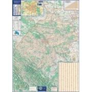 Карта автошляхів Львівська область 140х100см М 1:200 000 ламинированная Код товара 222707 фото