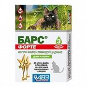 Барс Форте д/кошек 3 дозы инсектоакарицидные (10/100) ПР* $ фото