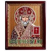 Благословение Николай Чудотворец. Ручная работа, киот фото