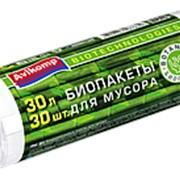 Мешоки для мусора биоразлагаемые, 30л, 30шт/рул, белые, Botanica 87839 фото