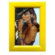 Деревянная рамка 10х15 фотоальт желтая, модель lc 029-25