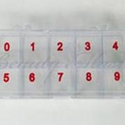 Контейнер с цифрами (пластиковый) фото