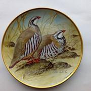 Тарелка красная куропатка (подарки для коллекционеров) фото