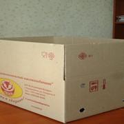 Ящик из гофрокартона с флексопечатью фото