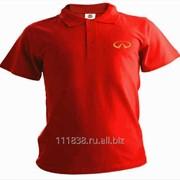 Рубашка поло Infiniti красная вышивка золото фото