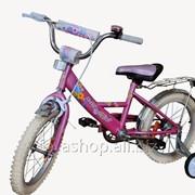 """Велосипед Марс 16"""" ручной тормоз + эксцентрик (розовый) фото"""