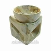 Аромолампа Формы / Чаша на Кубе / Мрамор / h=08см s02267-01 фото