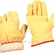 Перчатки кожаные утеплённые, арт. 700ТV, арт. 837 фото