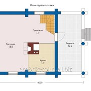 Дом со сруба Гелиос 88 м2