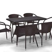 Комплект плетеной мебели из искусственного ротанга Тревис фото
