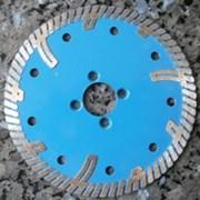 Круг алмазный (турбо с защитным зубом) P125G-1 22,23x2,2x8 диам.125мм фото