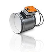 Клапаны противопожарные огнезадерживающие круглого сечения Электромагнитный привод ОЗ-90 ЭМ(24) 100 фото