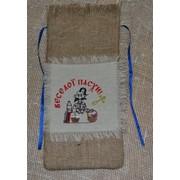 """Мешочек подарочный для вина """"Пасхальный"""" с вышивкой на завязке, размер: 15см Х 34 см. Пасхальные подарки фото"""