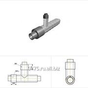 Тройник прямой стальной в оцинкованной трубе-оболочке с металлической заглушкой изоляции и торцевым кабелем вывода d1=1420 мм, L=2700 мм, Н=1500 фото