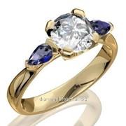 Кольца с бриллиантами D36619-1 фото