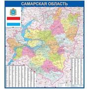 Настенная карта Самарской области 1,4х1,64 м фото
