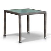 Плетеный стол со стеклянной столешницей Бари фото