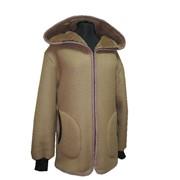 Куртка из натуральной верблюжьей шерсти с капюшоном фото
