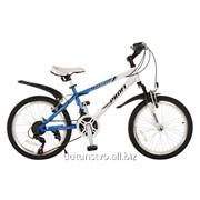 Велосипед 20 Battery Motion 20.3 сине-белый фото