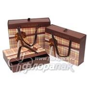 Коробка картонная цветная ККЦ (3шт) прямоуг. (29/20/911-25/16/8)см фото