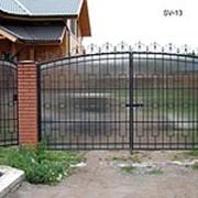 Металлические сварные ворота фото