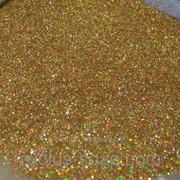 Глиттер голографический золотой-5 грамм-0,2 мм фото