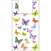"Пакеты-майка ""Бабочки"" 32x60см 17мкм (1500шт/кор) фото"