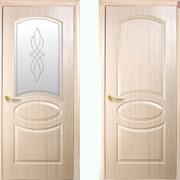 Дверь из бруса Фортис R ясень фото
