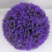 Искусственный декоративный шар фиол., d 30 см фото