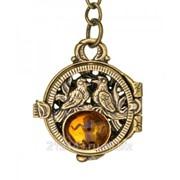 Брелок Медальон Голубки фото