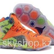 Кроссовки Nike LeBron XII 12 Orange Green Elite Series 40-46 Код LBXII02 фото