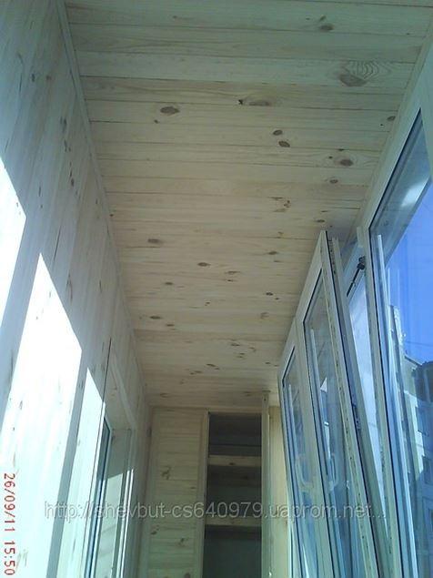 Балкон под ключ наружная обшивка вагонк12 - фото.