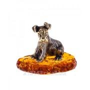 Сувенир Собака Шнауцер На подставке фото