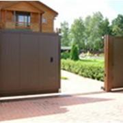 Ворота распашные 3000х2000 седвич-панель фото
