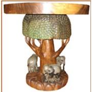Стол дерево+3 слоника фото